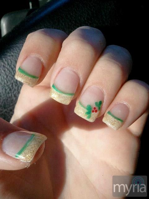 Acrylic nail design for Christmas