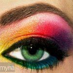 Bold rainbow eyeshadow