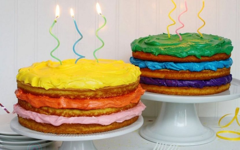 Naked Cake With Colorful Frosting Myria