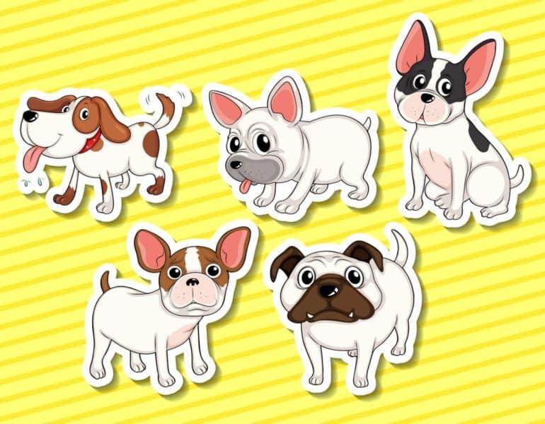 Cute cartoon dogs - Virtual pets