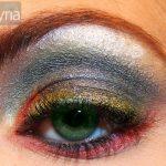 Dark rainbow colorful eyeshadow by mac and ben nye