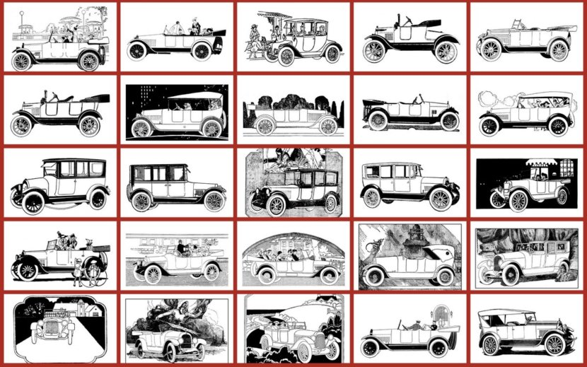 Classic Cars Adult Coloring Book #1: Early American Automobiles ...