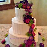 Textured Buttercream Wedding Cake with Spring Flowers