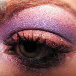 Eyeshadow and ben nye apricot orange and cosmic violet mac solar white eyeshadow