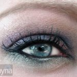 Eye shadows in purple, blue and aqua