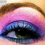 Funky bright eyeshadow from coastal scents