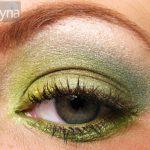 Green M.A.C. eyeshadow on a green eye