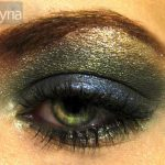 Green and blue metallic MAC pigment eyeshadows with Urban Decay