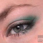 Grey eyeshadow with teal