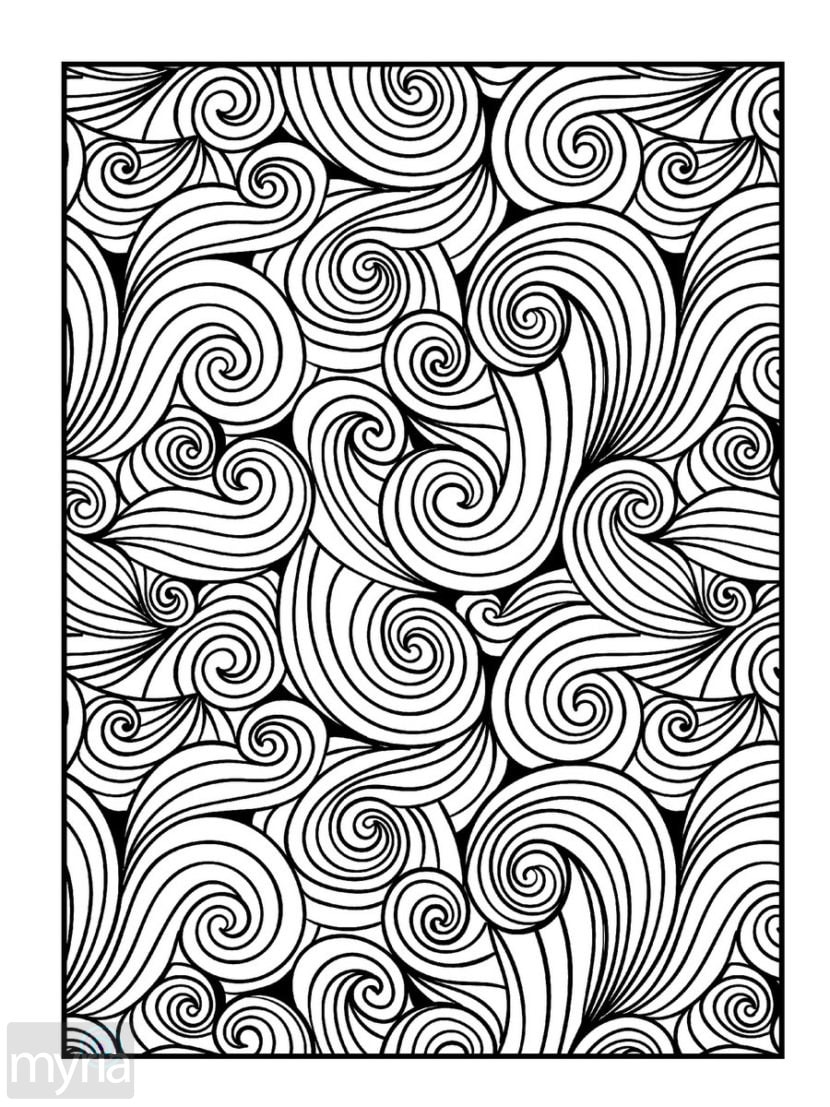 Large Print Adult Coloring Book #4: Big, Beautiful ...