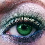 MAC eyeshadow and pigments chartreuse, teal, blue peep, pollen, cornflower, fuchsia eyeshadow