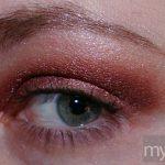 MAC ruby red eyeshadow
