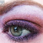MAC rushmetal pigment and hepcat purple mac eyeshadow on green eye