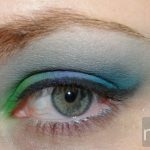 Manly Professional 120 eyeshadow palette - green, purple, teal, light blue, white
