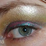 NYX pigments with urban decay heavy metal in green