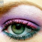 Purple and teal - Ben Nye and m.a.c. eyeshadow