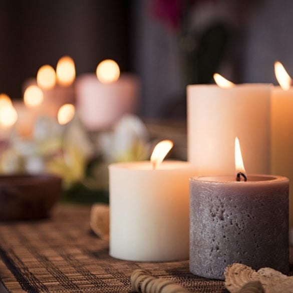 What are the safest ways to use candles at home?