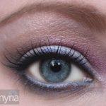 Seashell eyeshadows - Soft shadows, dusty purple, hot pink, shimmery iridescent gray-white
