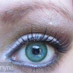 Simple silvery purple eyeshadow