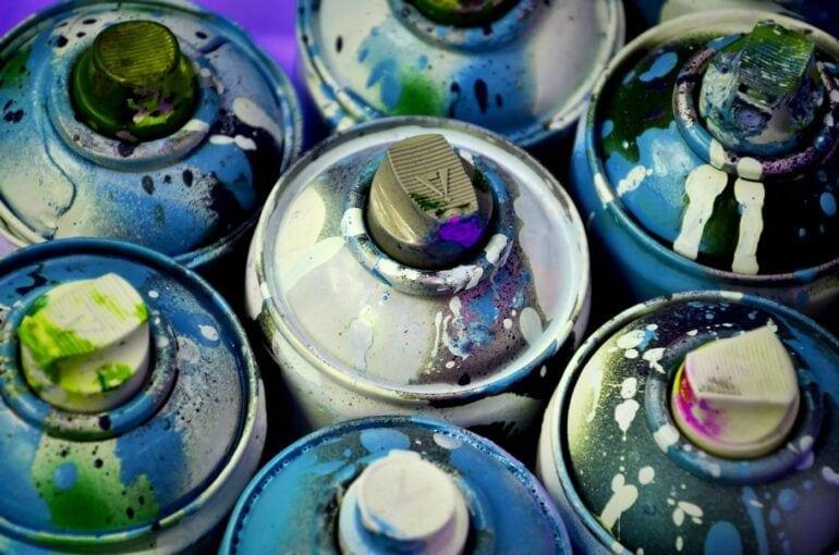 Spray paint - aerosol cans