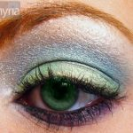 Super macro Green eye with eyeshadow from mac and ben nye