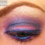 Vex Blue, pink and purple mac eyeshadow closeup