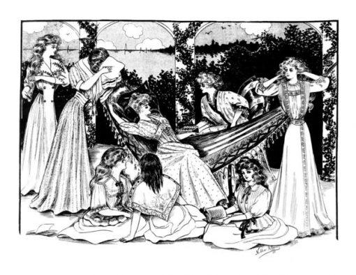 Vintage Women Coloring Book #2: Edwardian Fashion
