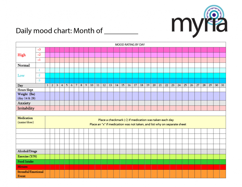 Monthly exercise calendar template
