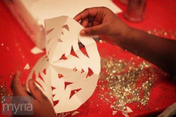glitter snowflake craft for kids