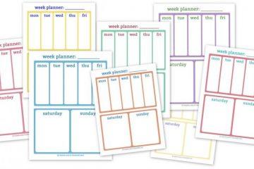 printable week weekend calendar pages